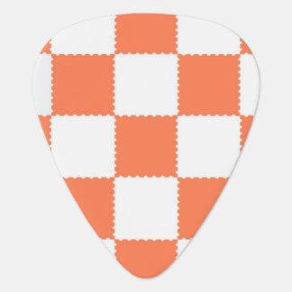 checkerboard  pattern guitar pick
