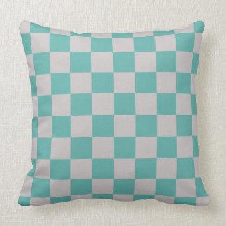 Checkerboard Pattern Seaglass Cushion