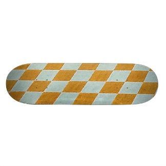 Checkerboard Pattern Skateboard
