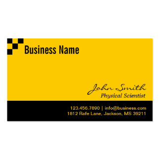 Checkerboard Physical Scientist Business Card