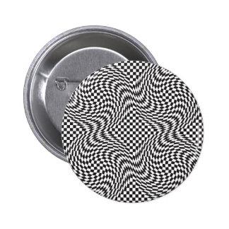 Checkerboard Warp 6 Cm Round Badge