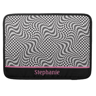 Checkerboard Warp MacBook Pro Sleeves