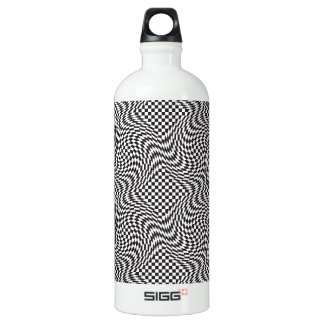 Checkerboard Warp Water Bottle