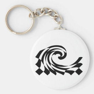 Checkerboard Wave Keychain