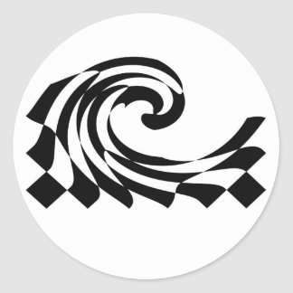 Checkerboard Wave Sticker