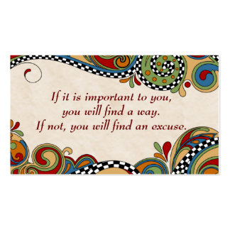 Checkerboard Whimsy Affirmation /Business Cards Pack Of Standard Business Cards