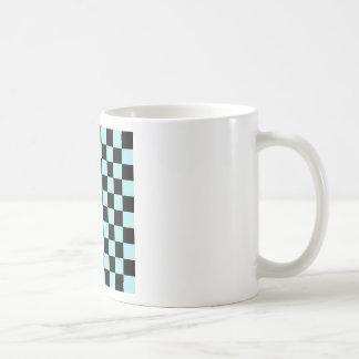 Checkered - Black and Pale Blue Coffee Mug