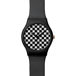 Checkered Black and White Watch