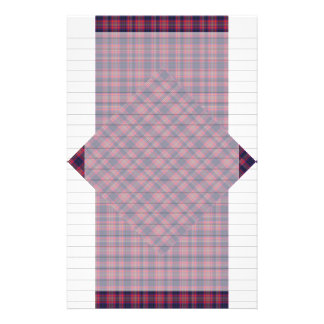 Checkered Blue and Red Stationery