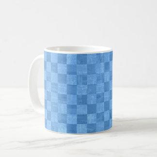 Checkered Blue Mug