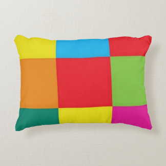checkered Brushed Polyester Accent Pillow