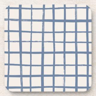 Checkered Coaster - Denim