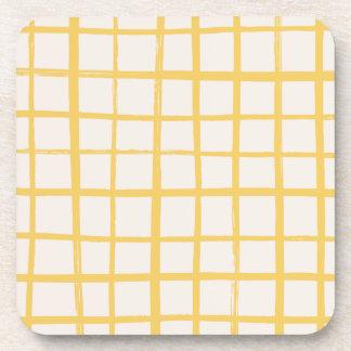 Checkered Coaster - Gold
