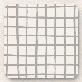 Checkered Coaster - Gray