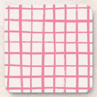 Checkered Coaster - Magenta