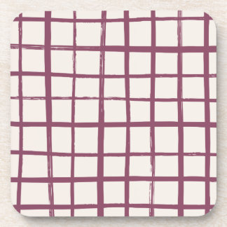 Checkered Coaster - Merlot