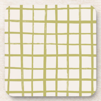 Checkered Coaster - Moss