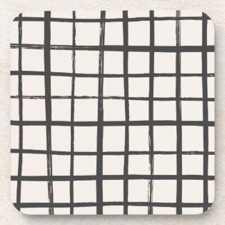 Checkered Coaster - Slate