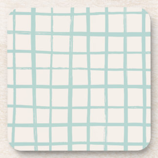 Checkered Coaster - Turquoise
