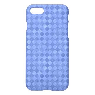 Checkered Cobalt Blue Matte iPhone 7 Case