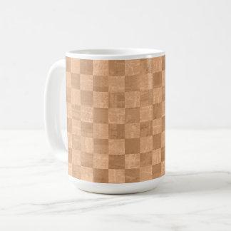 Checkered Copper Orange 15 oz Mug