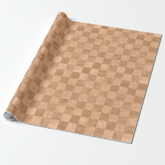 Checkered Copper Orange Grunge Wrapping Paper