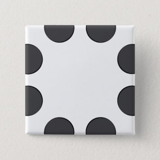 Checkered DarkGrey Dots 15 Cm Square Badge