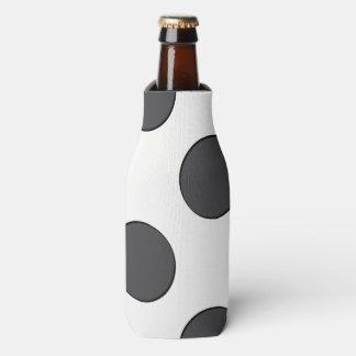 Checkered DarkGrey Dots Bottle Cooler