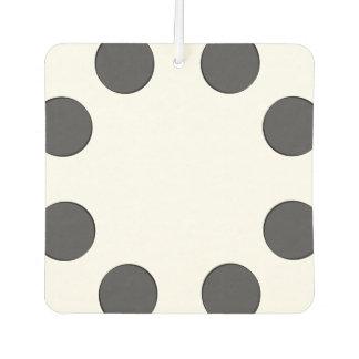 Checkered DarkGrey Dots Car Air Freshener