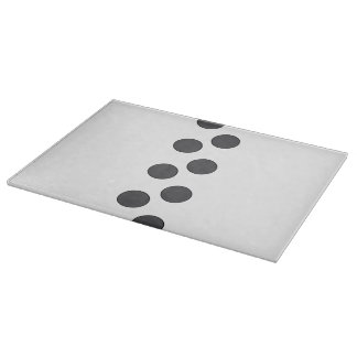Checkered DarkGrey Dots Cutting Board
