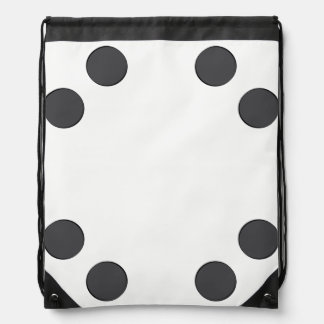 Checkered DarkGrey Dots Drawstring Bag