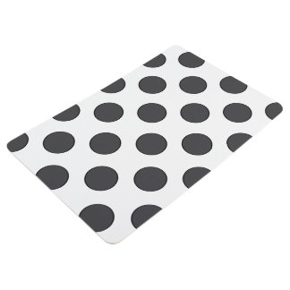 Checkered DarkGrey Dots Floor Mat