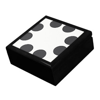 Checkered DarkGrey Dots Gift Box
