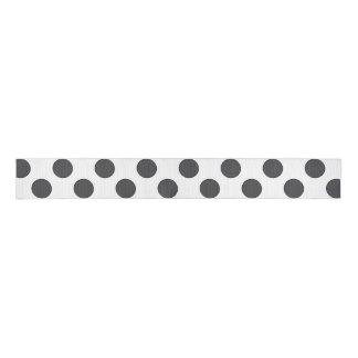 Checkered DarkGrey Dots Grosgrain Ribbon