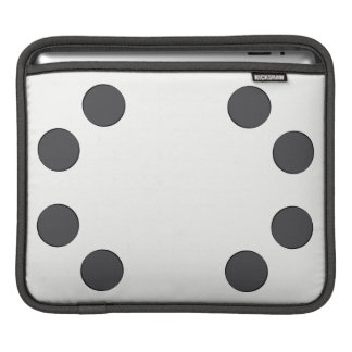 Checkered DarkGrey Dots iPad Sleeve