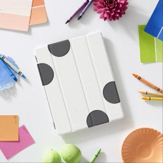Checkered DarkGrey Dots iPad Smart Cover