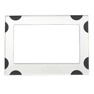 Checkered DarkGrey Dots Magnetic Picture Frame