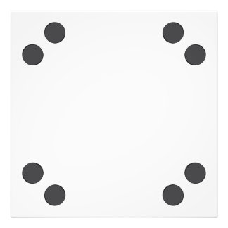 Checkered DarkGrey Dots Photo Print