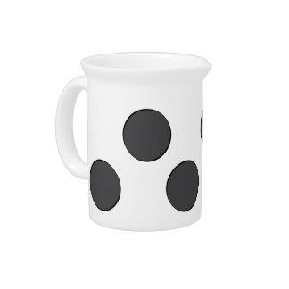 Checkered DarkGrey Dots Pitcher