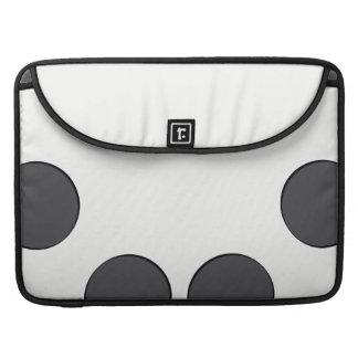 Checkered DarkGrey Dots Sleeve For MacBook Pro