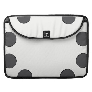 Checkered DarkGrey Dots Sleeve For MacBooks