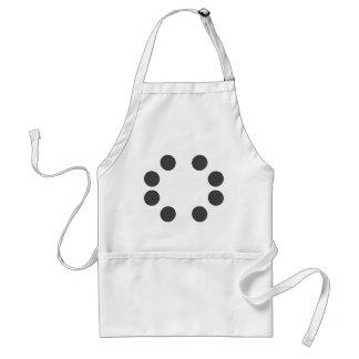 Checkered DarkGrey Dots Standard Apron