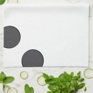 Checkered DarkGrey Dots Tea Towel