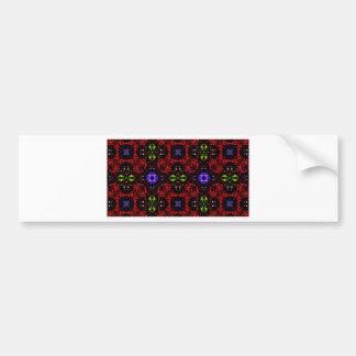 Checkered design Kaleidoscope Bumper Sticker