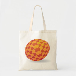 Checkered Easter Egg Tote Bag