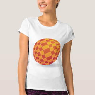 Checkered Easter Egg Womens Active Tee