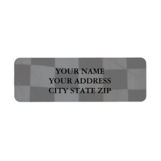 Checkered Flag Address Label