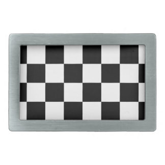 Checkered flag auto racing belt buckle