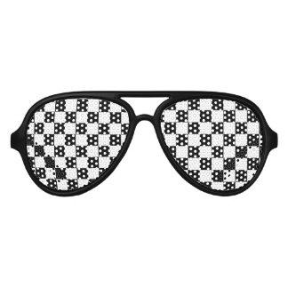 Checkered Flag Aviator Sunglasses