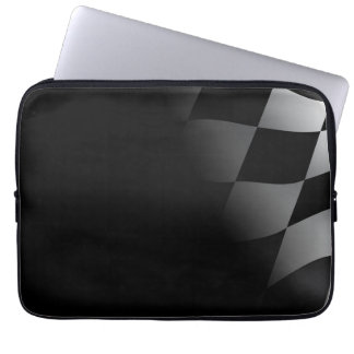 Checkered Flag Black Neoprene Laptop Sleeve